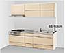 壁付けI型のキッチンスペースの写真