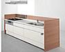 アイランドI型のキッチンスペースの写真
