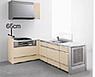 ペニンシュラL型のキッチンスペースの写真