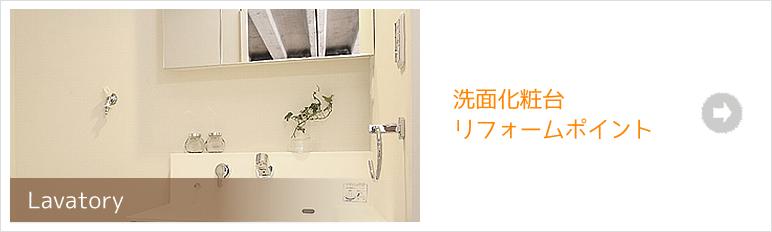 Lavatory 洗面化粧台リフォームポイント