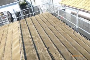 屋根葺き替え 工事写真