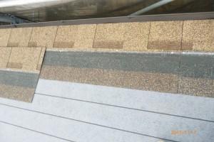 屋根材 アスファルトシングル 貼り合わせ