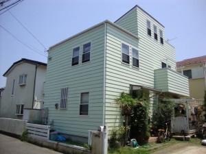 外壁屋根塗装 施工前 湘南