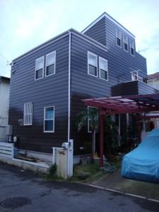 屋根外壁塗装 ログハウス風 施工後
