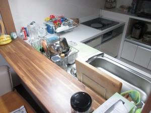 キッチン カウンター設置