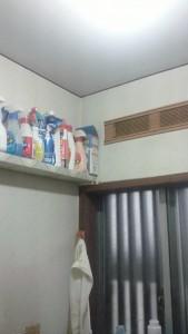 洗面室 天井クロス 施工前 綾瀬市