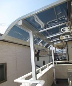 ベランダ テラス屋根設置 秀建 厚木市