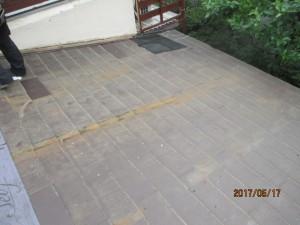 屋根の葺き替え工事、施工前の写真
