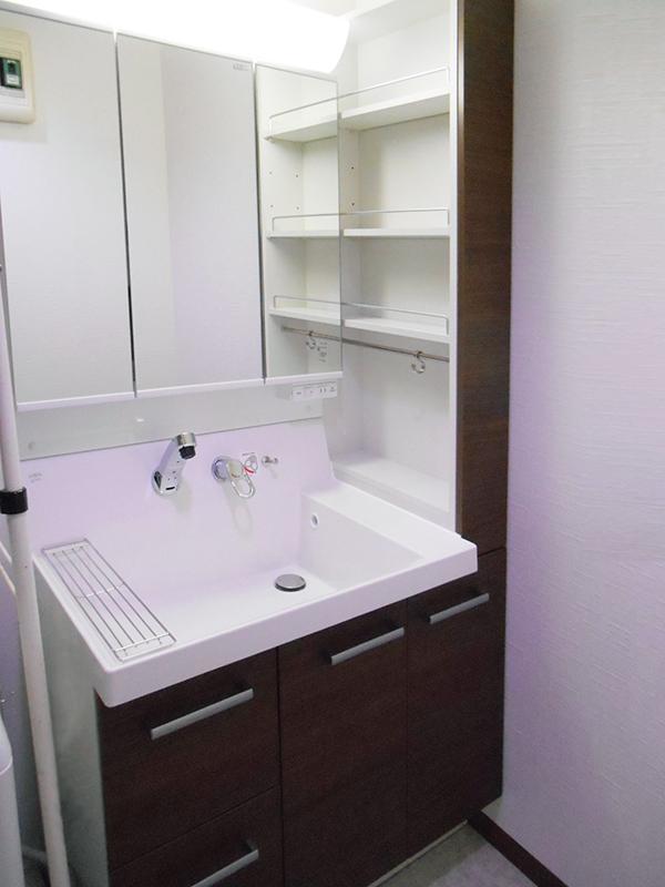 洗面化粧台のリフォーム 施工事例