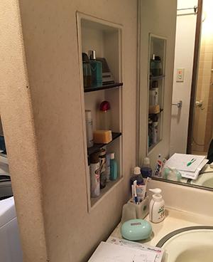 洗面化粧台ビフォー